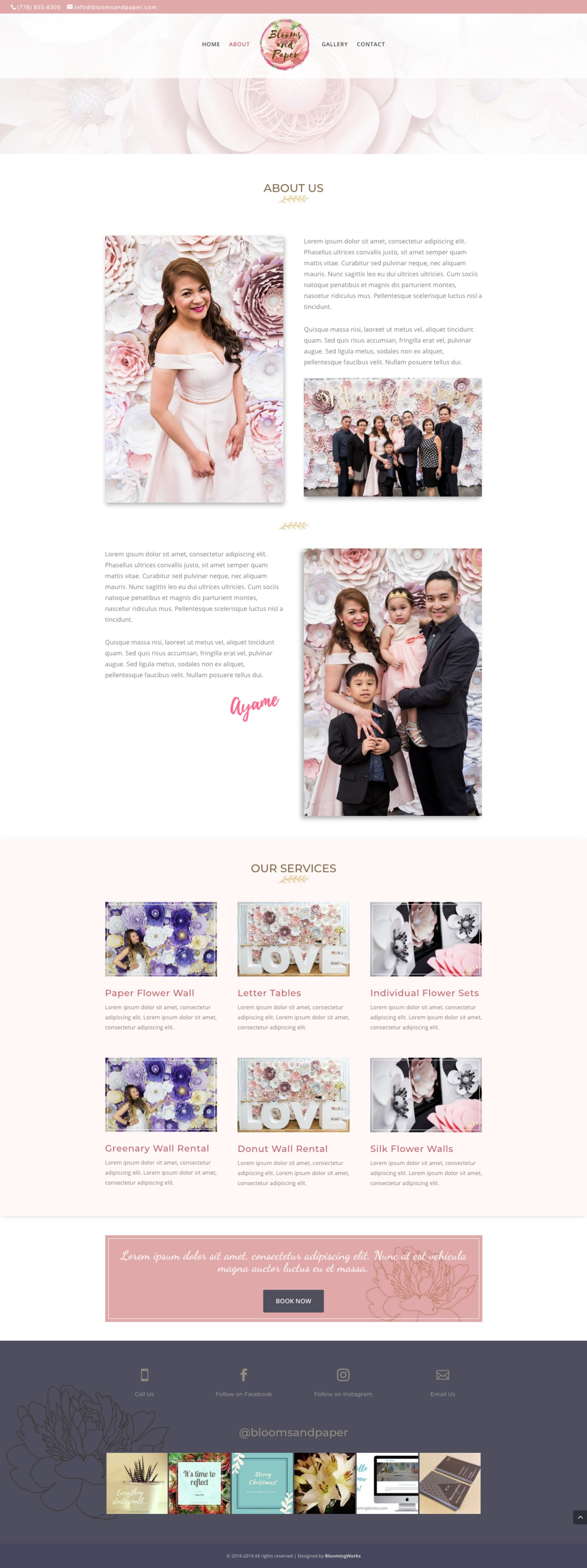 Florist Website in WordPress