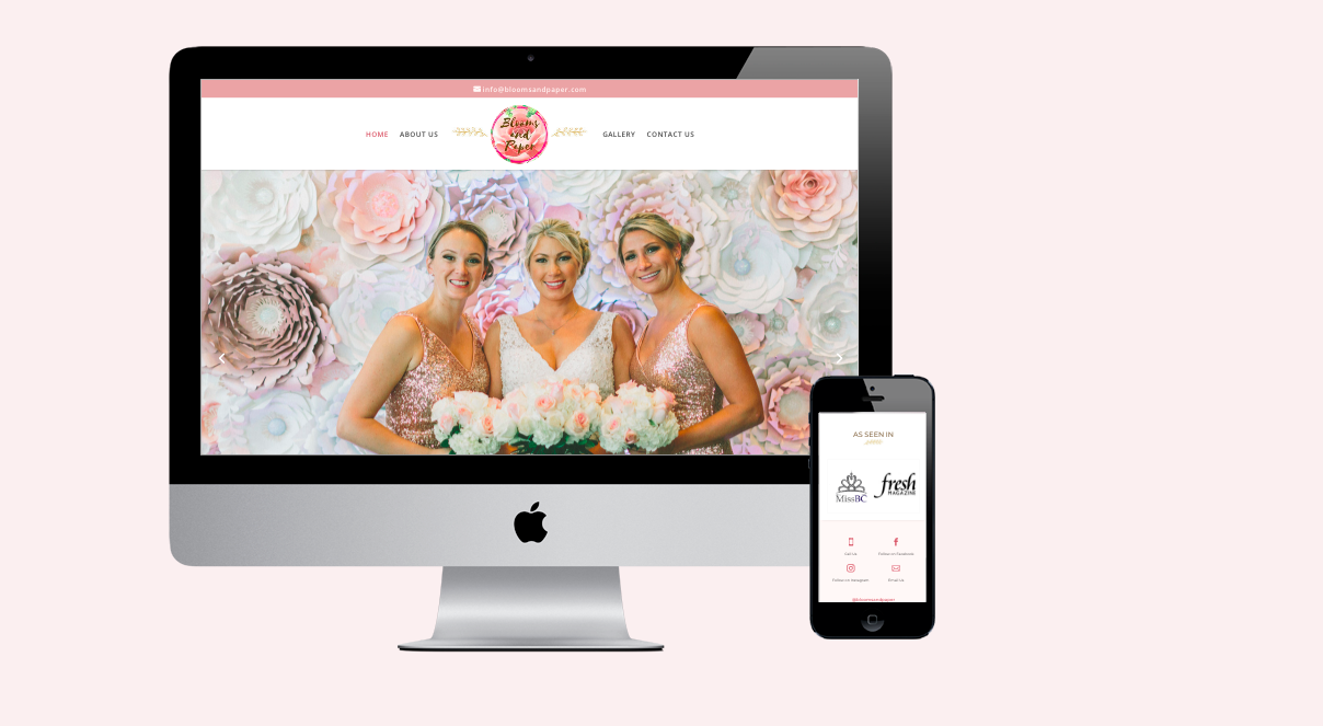 Florist Website Design - Blooms and Paper Vancouver