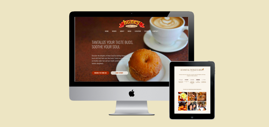 Bakery Website Design - Honey Doughnuts Vancouver