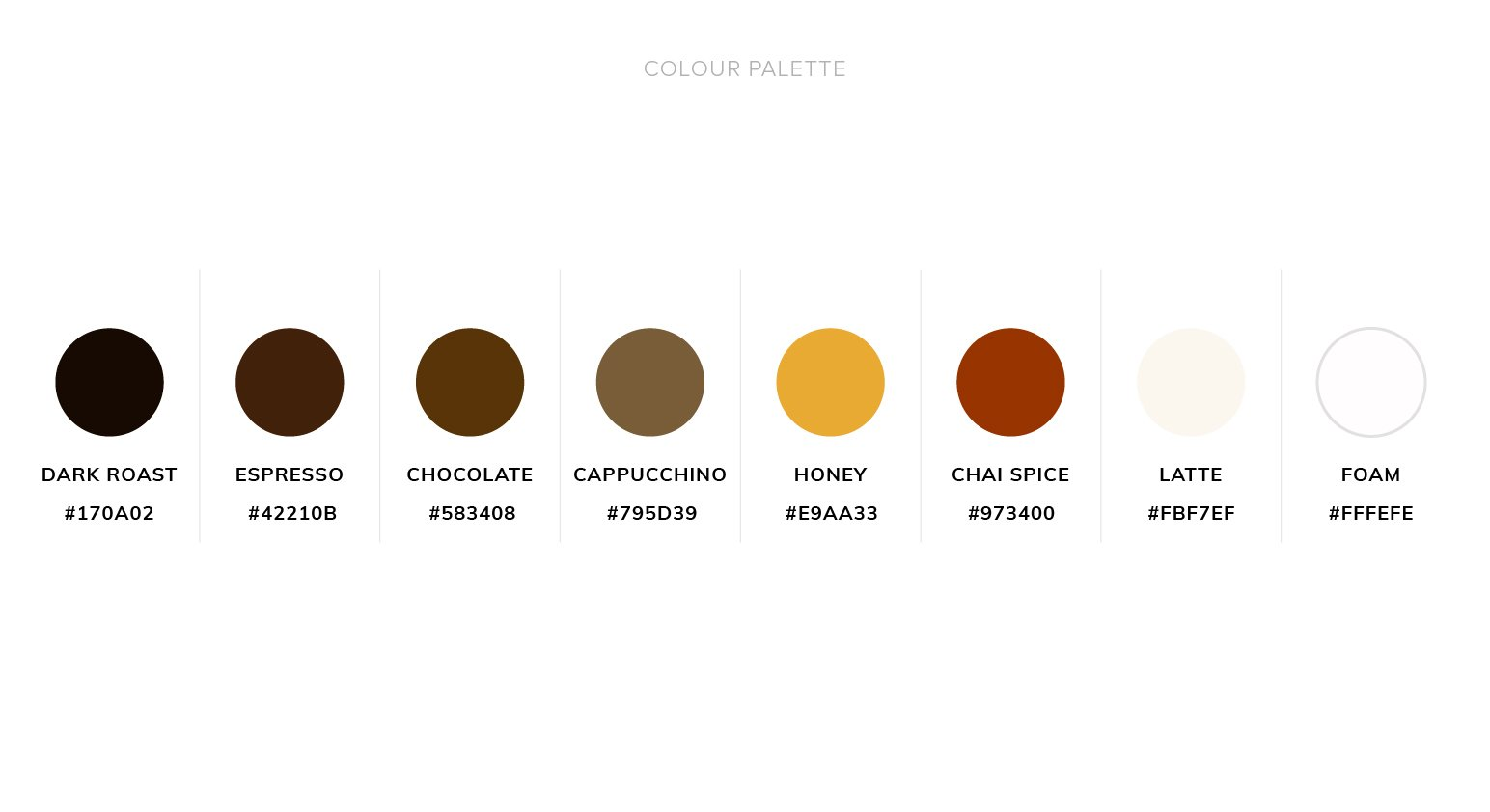 Bakery Web Design Color Palette