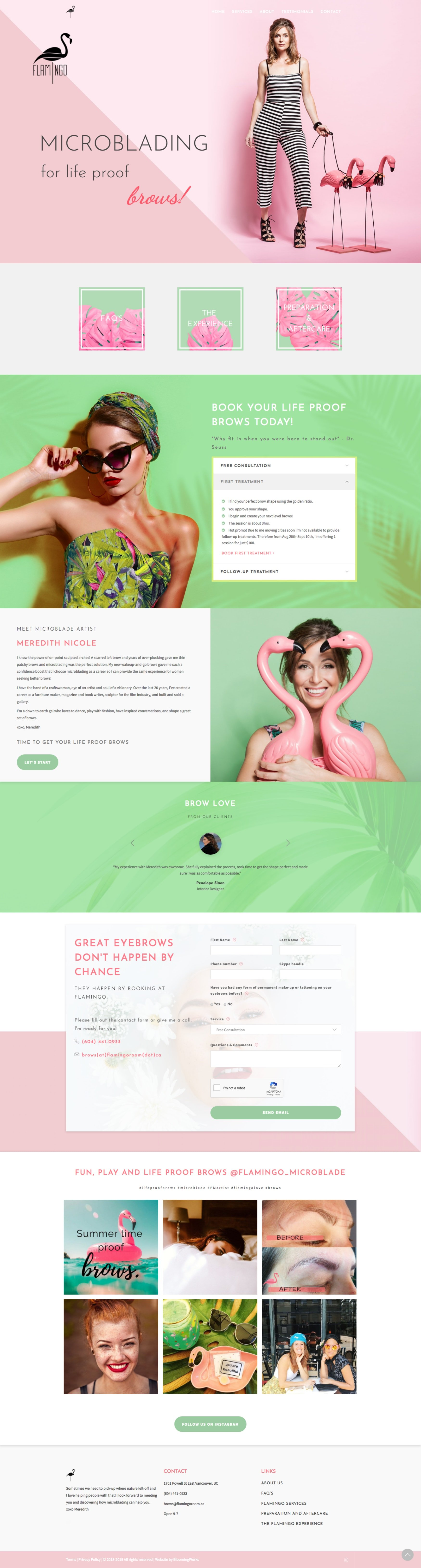 Salon and Spa Website in WordPress