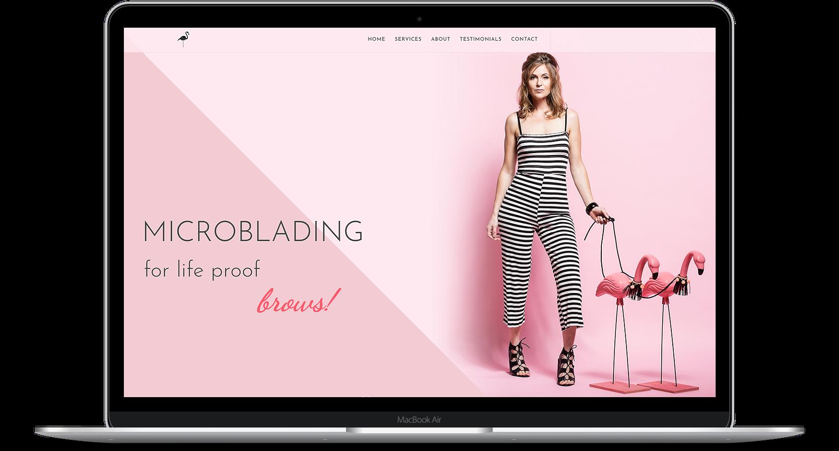 salon-website-design-flamingo-microblading