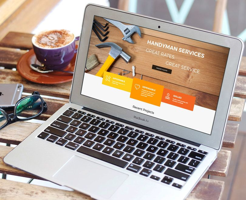 handyman website design