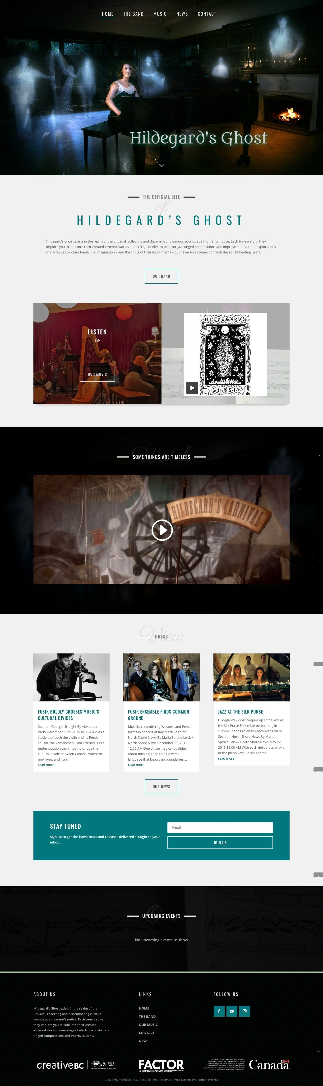 Music Band Web Design