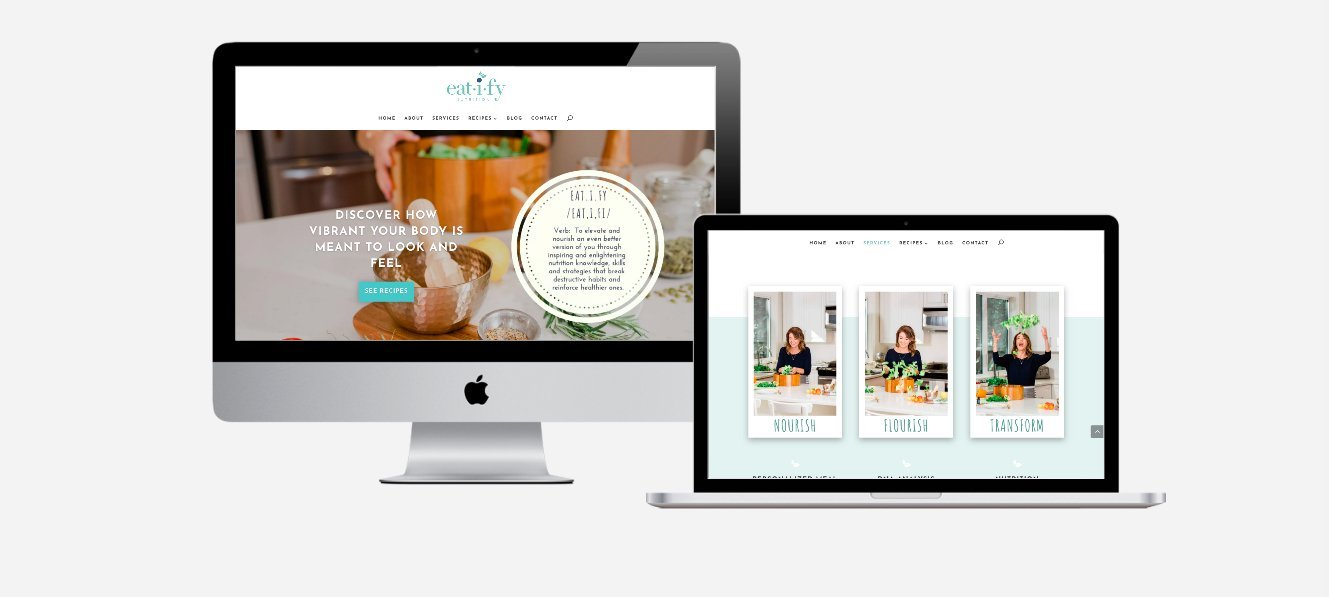 Nutritionist and Hypnotherapist Website Design