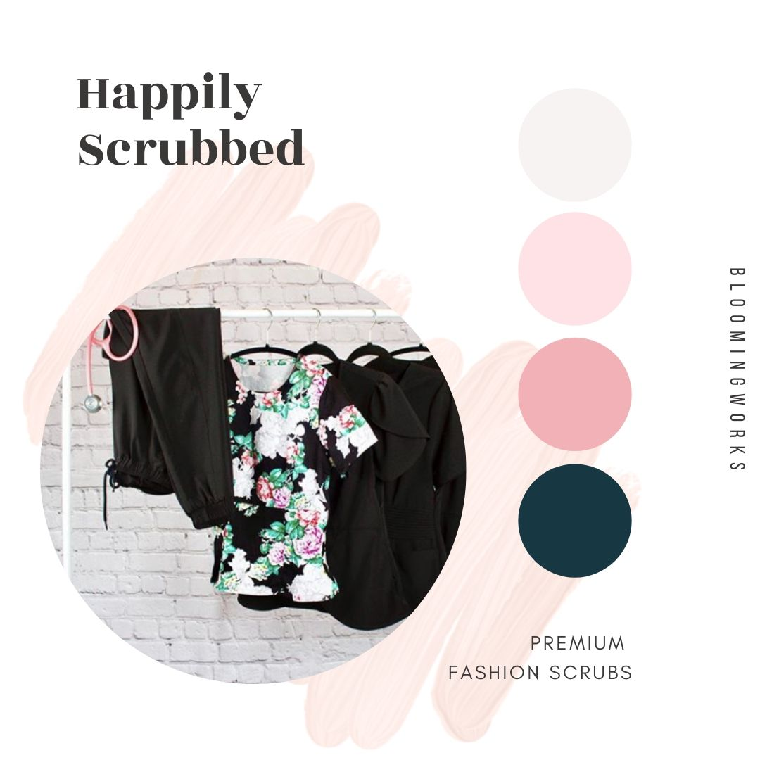 Shopify basic website example - Happily Scrubbed
